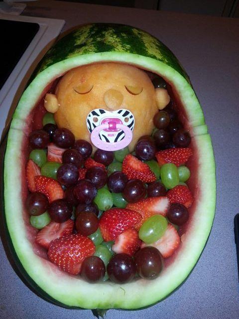 Baby Shower Fruit Bassinet Megan S Shower Diy Amp Crafts