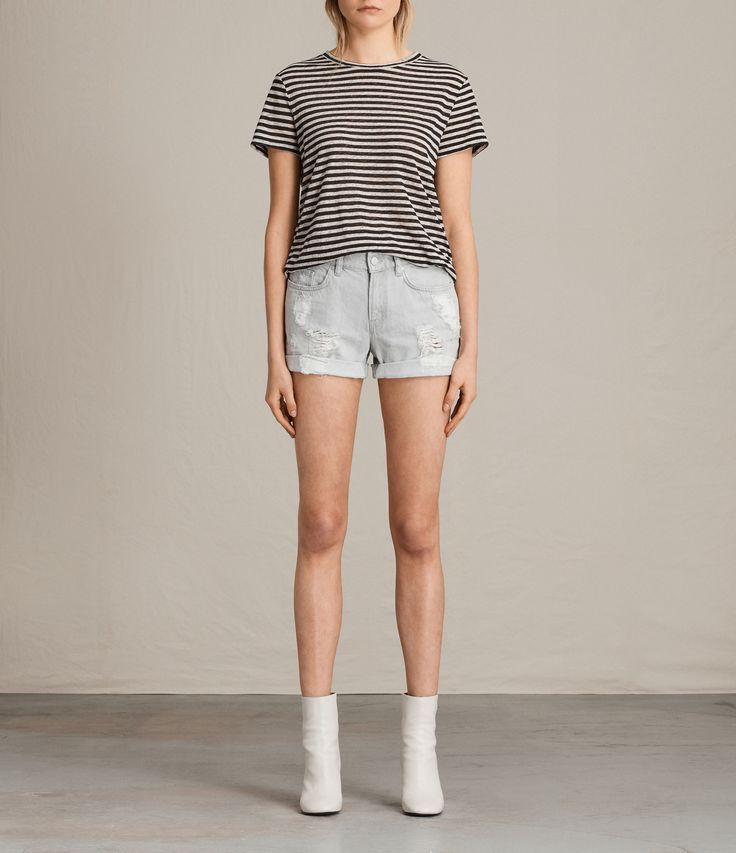 Go from beach to city in distressed shorts
