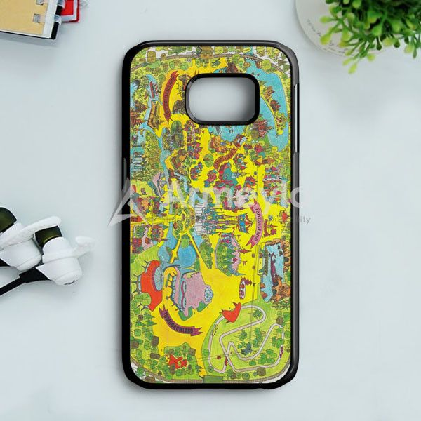 Vintage Walt Disney World Map Fantasyland 1971 Samsung Galaxy S7 Case | armeyla.com