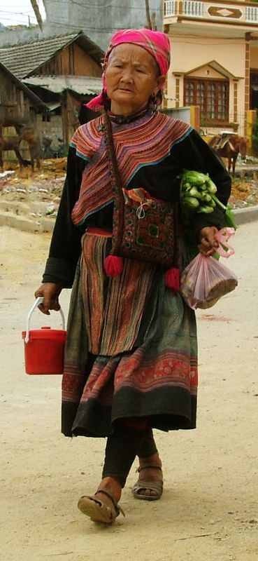 Back from Market - , Lao Cai Vietnam by Pierre Che