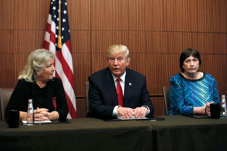 Trump holds pre-debate news conference with Clinton accusers