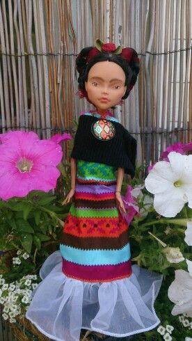 Kislany Rescue Dolls OOAK Bespoke Monster High repaint handmade clothes #FridaKahlo