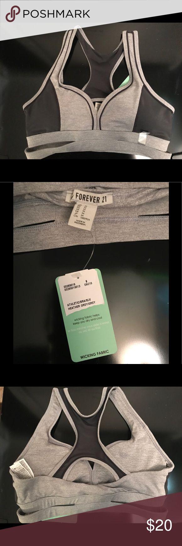 Forever 21 Grey Sports Bra. NWT. Medium Forever 21 Grey Sports Bra. NWT. Size: Medium Forever 21 Intimates & Sleepwear Bras