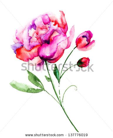 abstract watercolor peony - Google Search | Tattoos ...
