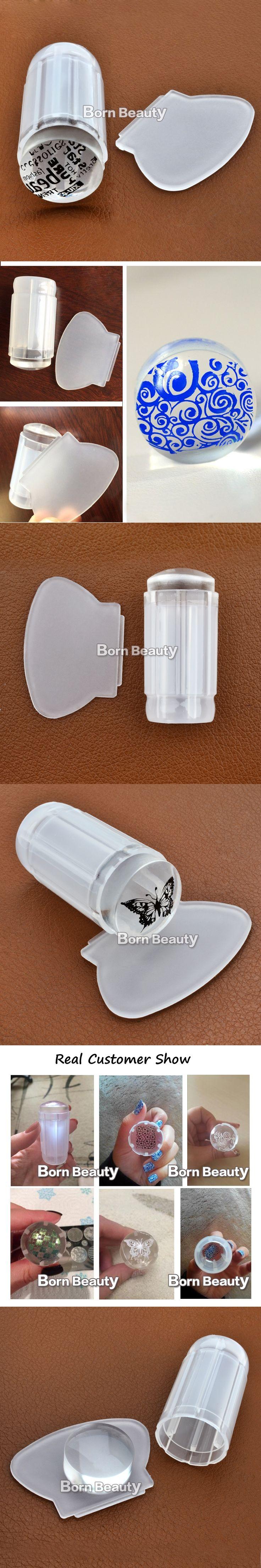 1pcs New Milky White Clear Jelly Stamper 2.8cm Transparent Nail Stamping Stamp Scraper Polish Print Transfer Nail Stamper Tools