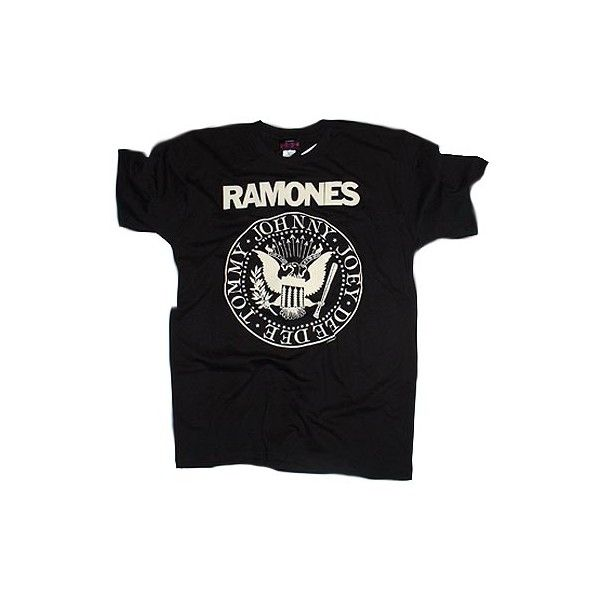 Women's Ramones T-shirt ($20) ❤ liked on Polyvore featuring tops, t-shirts, shirts, tees, graphic design t shirts, shirts & tops, vintage shirts, vintage graphic t shirts and vintage tees