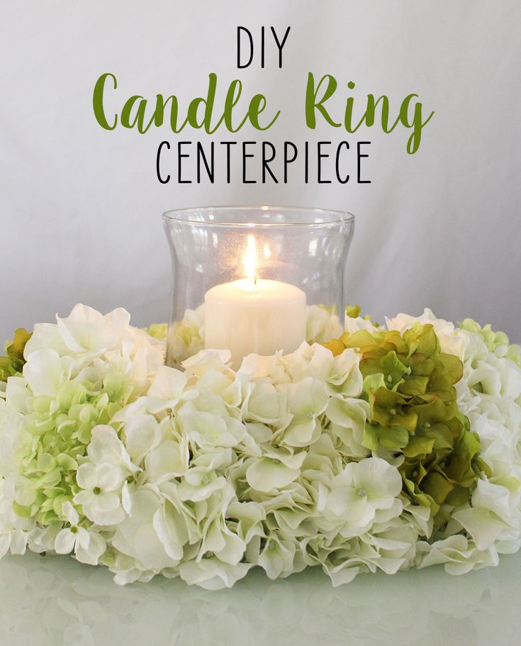 Diy candle ring centerpiece seasons the o jays and wire
