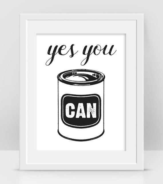 Yes You Can Art Funny Motivational Poster by InogitnaDesigns