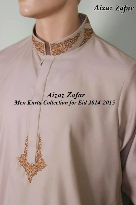 Aizaz Zafar Men Kurta Collection for Eid 2014-2015