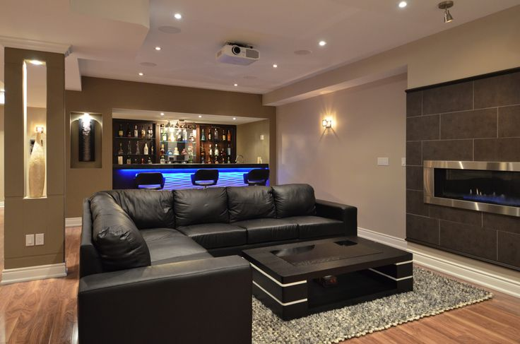 finished basements | Custom Basement Bar | Finished Basement .ca
