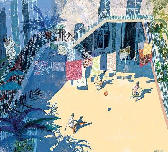 Summer In Baku By Victoria Semykina Climbing Art Summer Painting Summer Illustration