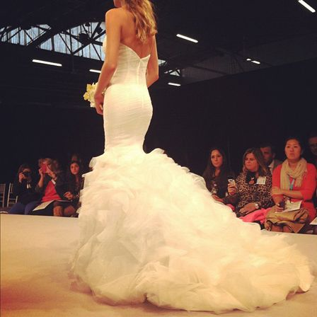 From Winnie Couture's Bridal Market Fall 2013 runway show: look at this silhouette!