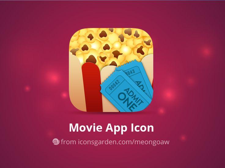 Free PSD Movie Popcorns app icon