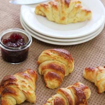 There are so many foods in life that are tonnes better made from scratch - chewy, flaky, buttery croissants is one of them. Well worth the effort.