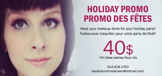 New holiday promo! Book now for your holiday party!  sarahannchristensen@hotmail.com
