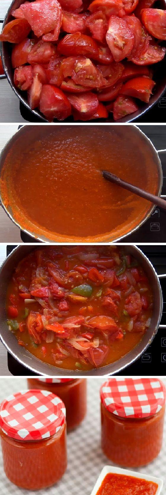 Cómo hacer salsa de tomate frito casera y fácil. Una de las conservas perfectas que va a aprender para toda su vida!  #salsa #frito #facil  #tomatoes #tomatosoup #tomate #tomates #tomateseco #comohacer #rellenos #ensaladas #salud #saludable #salad #receta #recipe #tasty #food   Si te gusta dinos HOLA y dale a Me Gusta MIREN…