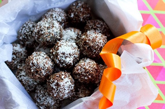 Jaffa Rum Balls  @Beth Tauer Drink Paleo I think these would be good without the rum
