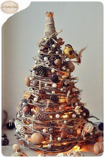 Creative Ideas - DIY Gorgeous Christmas Tree from Tree Branches | iCreativeIdeas.com Follow Us on Facebook --> https://www.facebook.com/iCreativeIdeas