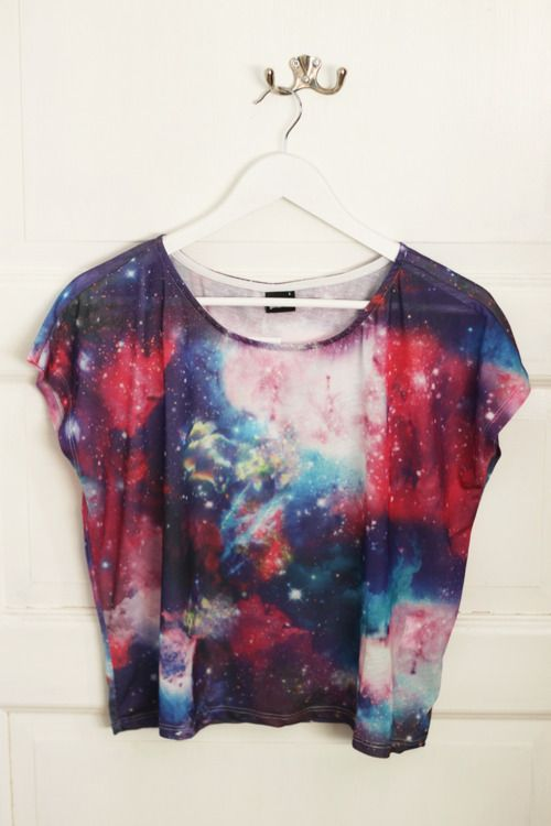 learned how to make this cool galaxy look on fabric! Cant wait to start making my own cool creations like this!