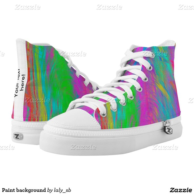 Paint background printed shoes