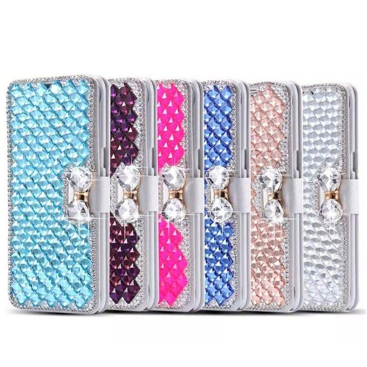 Handmade Diamond Case For ZTE Blade V7 Lite Case Glitter Rhinestone Wallet PU Leather Cover For ZTE Axon 7 x3 A610 Z11 mini S #Affiliate