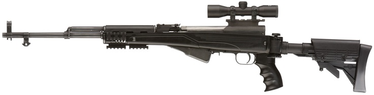 SKS Simonov 7,62 × 39mm rifle with Strikeforce Stock with Scorpion Recoil System