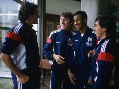 Michel Platini, Luis Fernandez, Jean Tigana & Alain Giresse = Le Carré Magique © France 1984.