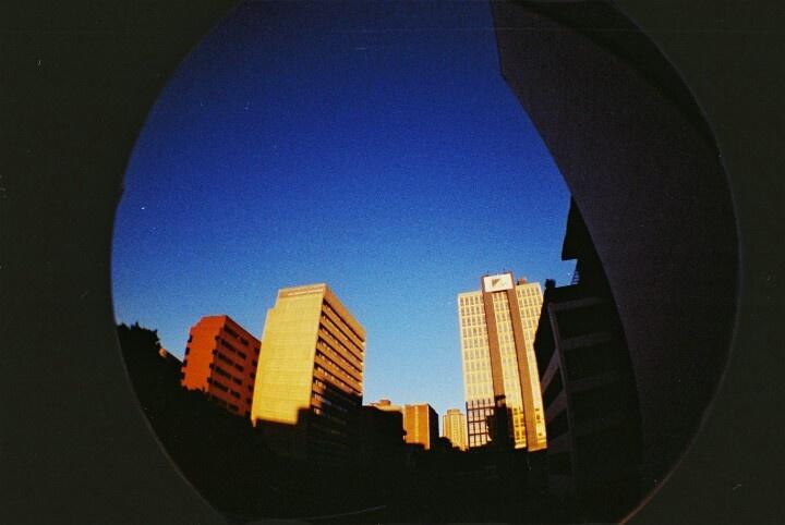 Johannesburg skyline from my fisheye's point of view.