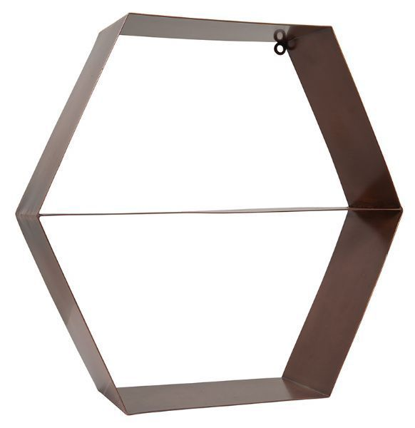 Hexagon Copper Shelf - General Eclectic