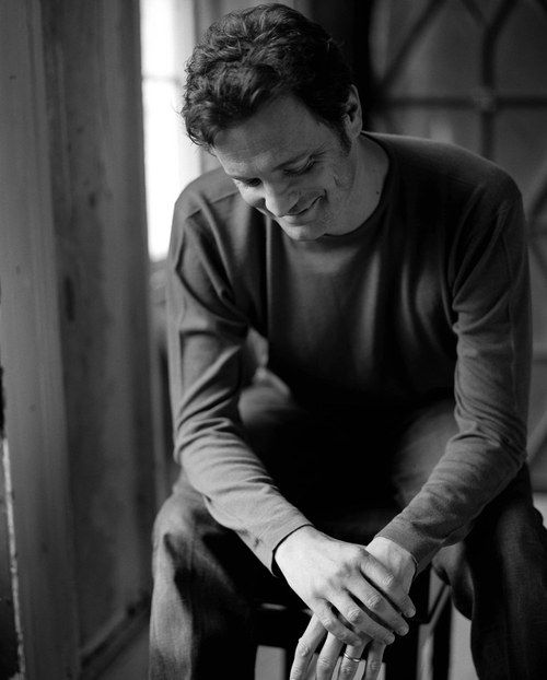 Colin Firth...LOVE!  he has the most enchanting smile.  *sigh* male actor (Mr. Darcy), celeb, portrait, photo b/w.