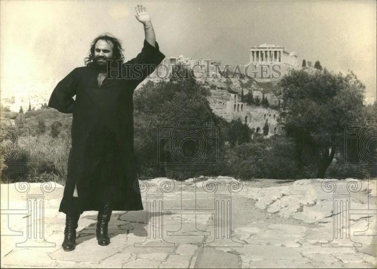Press Photo Greek Singer Demis Roussos