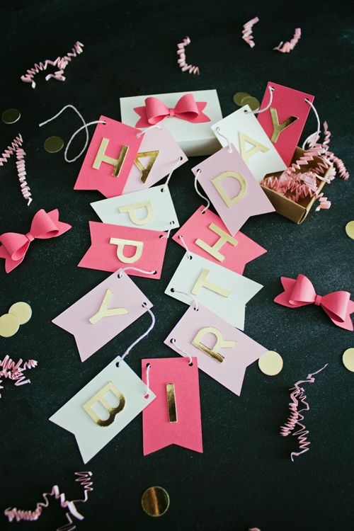 DIY Birthday Banner in a Box | like-the-cheese.com