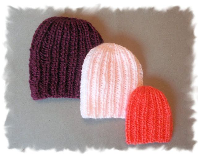 Another little preemie baby hat pattern - great for boys and girls!     Quick to knit and so practical too.       Ribby Preemie Baby Hats...
