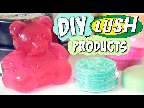 DIY LUSH Lip Scrub & Shower Jelly + HAUL // Handmade Cosmetics & Bath Products How To - YouTube