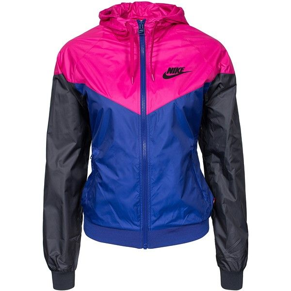 Nike Windrunner ($95) ❤ liked on Polyvore featuring jackets, hoodies, shirts, deep blue, womens-fashion and nike