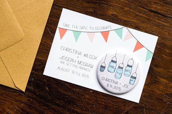 Partecipazioni con magnete vasi. Wedding invitations with magnet. #wedding #wedding invitations