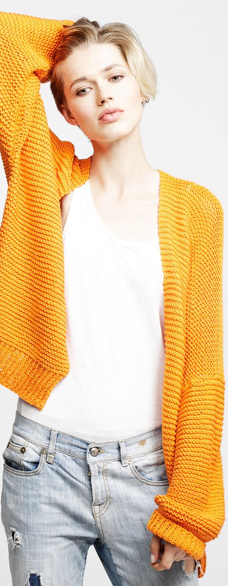perfect summer cardi...I could knit this...
