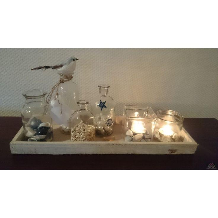 glazen vazen decoreren   Glas vaas Flesje Glas voor schelpen 6.5x6.5x12.5cm - Goedkoop ...
