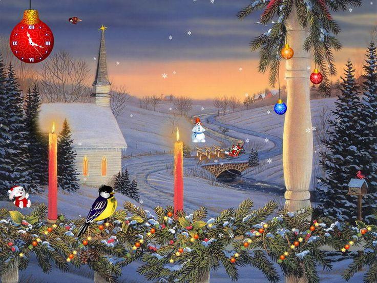 Animated Christmas Characters   Christmas Screensaver - Christmas Candles - FullScreensavers.com
