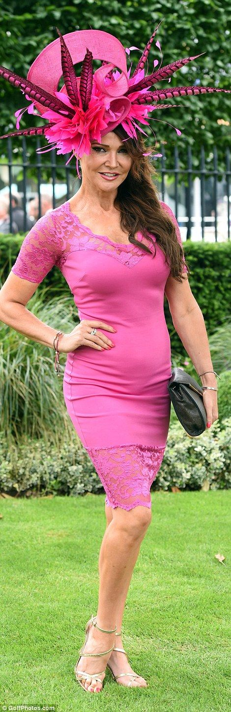 Royal Ascot, June 16, 2016. Never one to miss a social occasion, TV personality Lizzie Cundy also hit the race course ...