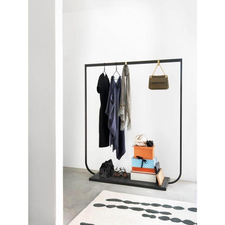 decoration nice portable clothes rack outdoor coat rack design dyrable metal black finishe rectangle base