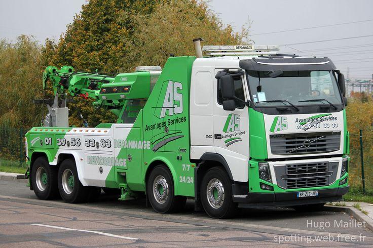 Volvo FH16  540 (2011), dépannage poids-lourd tow truck, Avantages Services.