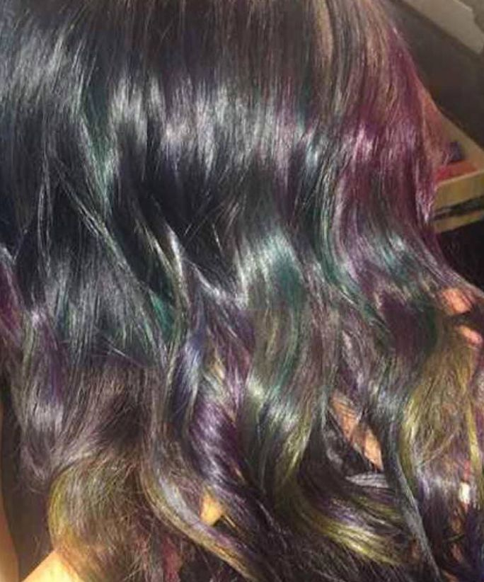 Oil Slick Hair Is the Color Trend Taking Over Instagram Right Now from InStyle.com