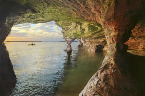 The Apostle Islands have some of the best sea caves on the Great Lakes!