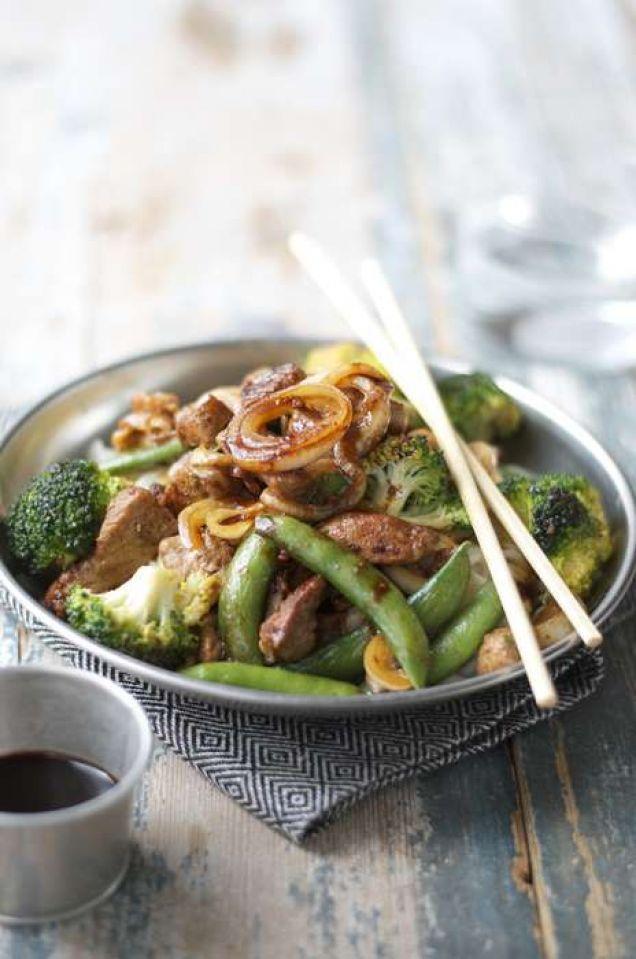 Såsen till denna wok är helt fantastisk! Innehåller 400 kcal
