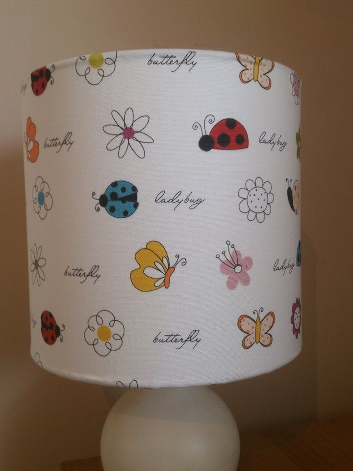 Ladybird fabric covered lampshade