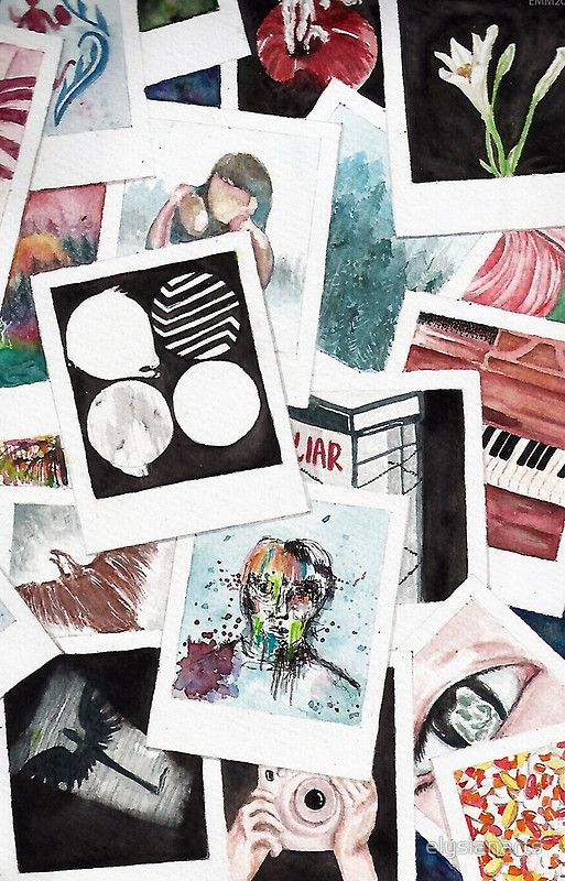 BTS Wings Polaroid Watercolor