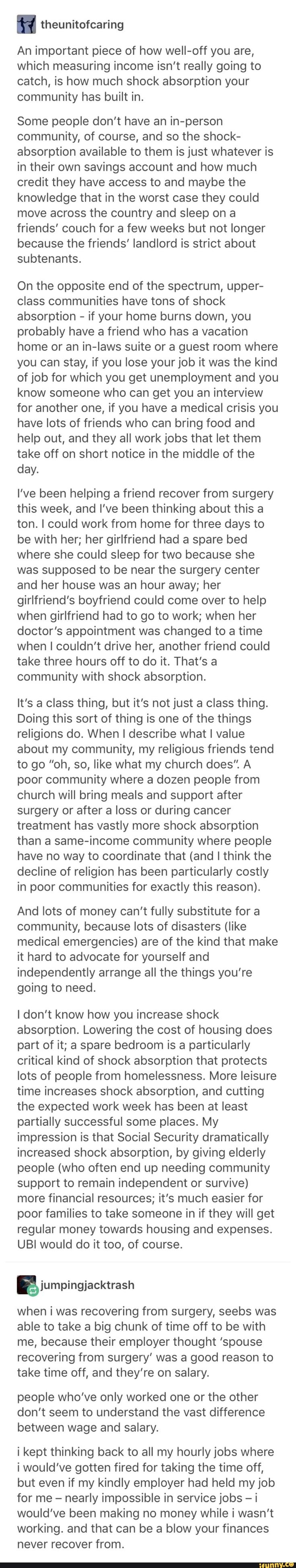 This is why I wish there was a good alternative to the community that churches can provide. I'm not religious and don't want to be, but I wish there was another way to be community minded