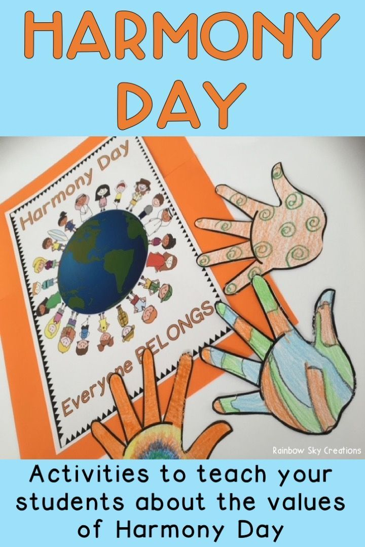 Harmony Day Activities - Years 1 & 2 - Cultural diversity