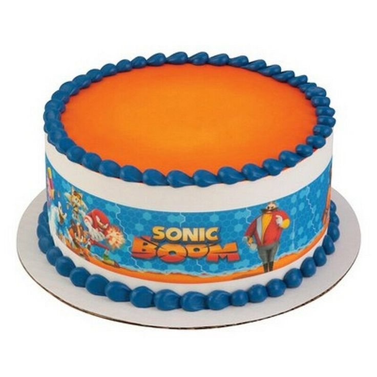 Sonic The Hedgehog Licensed - Designer Strips - Edible Cake Side Toppers- Decorate The Sides of Your Cake! - D58223 by ArtofEricGunty on Etsy https://www.etsy.com/listing/287056357/sonic-the-hedgehog-licensed-designer